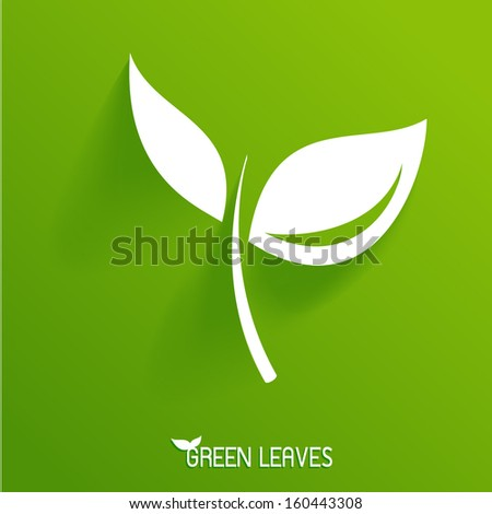 Green Leaves Eco  - stock vector
