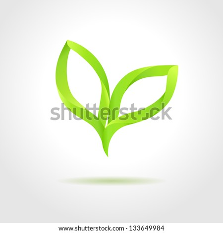 Green leaves. Eco concept - stock vector