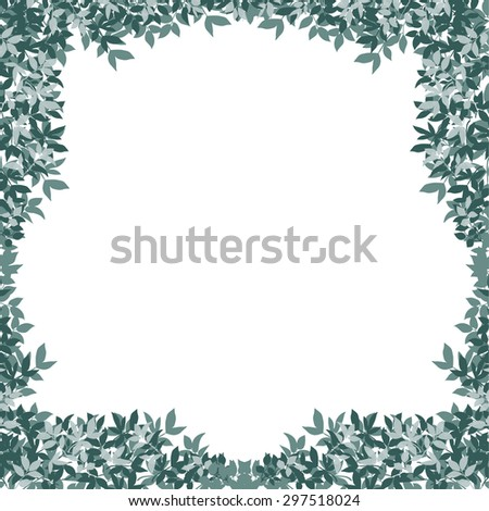 green leaves of a tree. vector illustration - stock vector