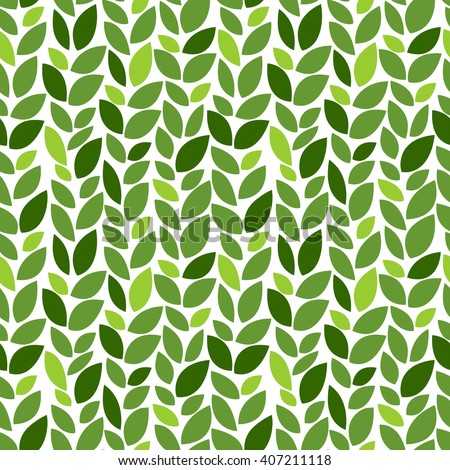 Green leaves pattern. Eco. Seamless decorative template texture with green and beige leaves. Seamless stylized leaf pattern. Vector illustration - stock vector