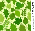green leaves seamless texture.Vector images - stock vector