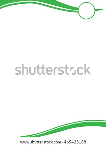 Green Letterhead with Logo Template