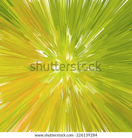 Green light burst - abstract background. Vector illustration, EPS10. - stock vector