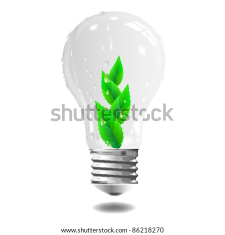 Green light - eco concept.Vector.