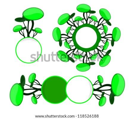 green line, green World - stock vector
