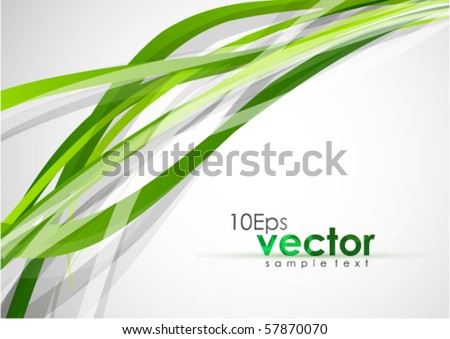 Green lines. Abstract vector background - stock vector