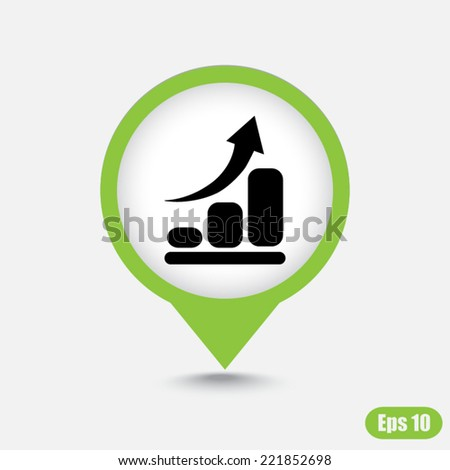 Green map pointer sign icon  - stock vector
