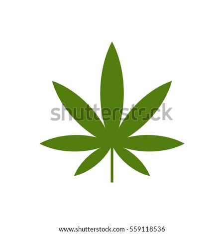 green marijuana leaf logo template