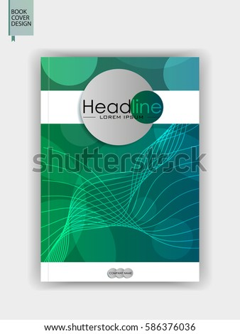 Green Modern Annual Report Cover Book Stock Vector 586376036