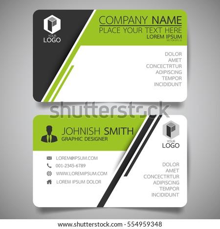 green modern creative business card name stock vector 551083135