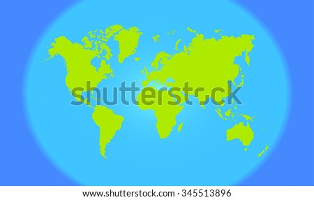 Green modern world map blue oceans stock vector 345513896 shutterstock green modern world map with blue oceans the round shape vector illustration gumiabroncs Gallery