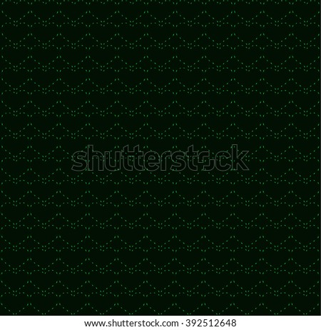 Green neon heart strings, seamless background - stock vector