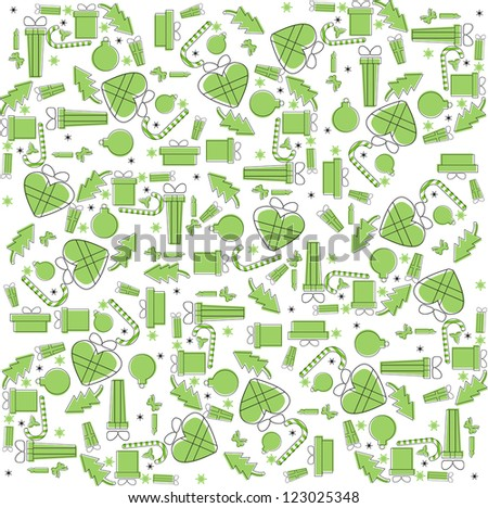 green new year pattern