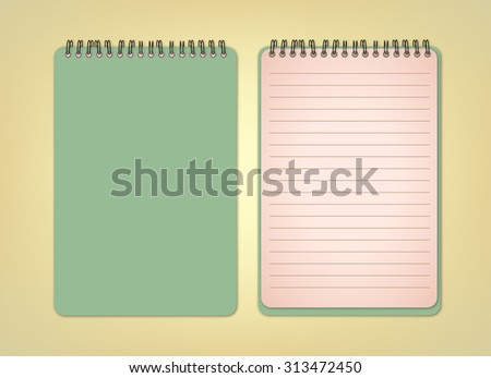 Green Notebook Vector - stock vector