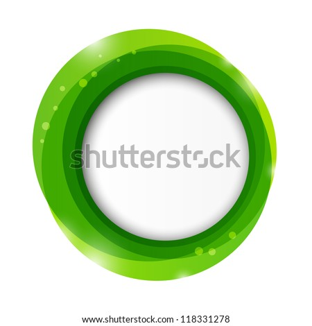 Green paper frame with place for text - stock vector