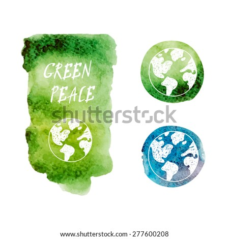 green peace  - stock vector