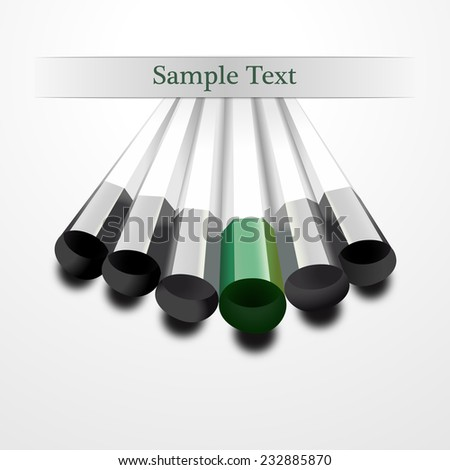 green pencil business background vector - stock vector