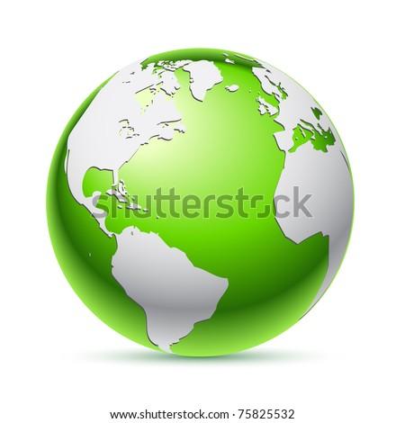 Green planet - stock vector