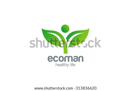 Green Plant Abstract Logo natural Organic Eco design vector template.