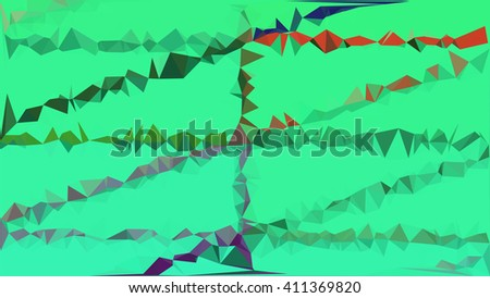 Green polygon abstract background