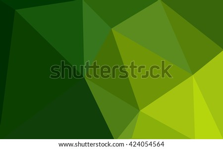 Green polygonal illustration, which consist of triangles. Geometric background in Origami style with gradient. Triangular design for your business. - stock vector