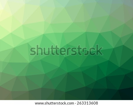 Green Polygonal Mosaic Background - stock vector