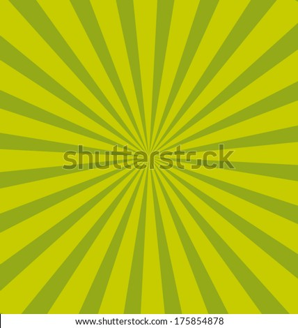Green pop sunburst background. Commercial vector wallpaper. - stock vector