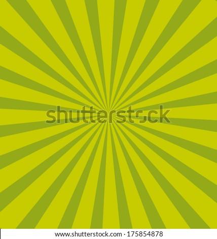 Green pop sunburst background. Commercial vector wallpaper. - stock vector