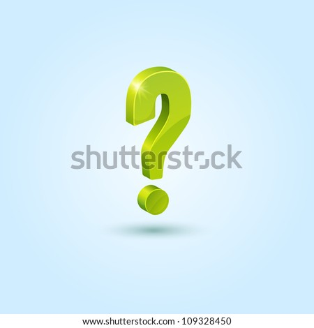 Green Question Mark Person Green question mark symbolQuestion Mark Person Green