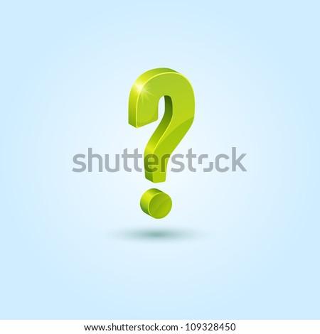 Green Question Mark Person Green question mark symbolQuestion Mark Person Green