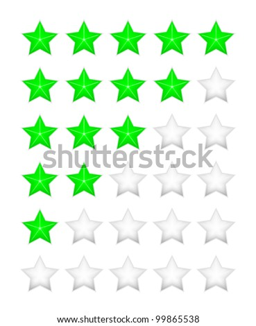 Green rating stars vector - stock vector