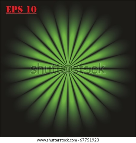 green rays. vector. EPS10. - stock vector