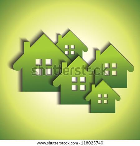 Green real estate concept - stock vector