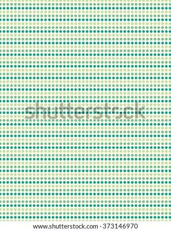 Green repeating circle pattern over white background - stock vector