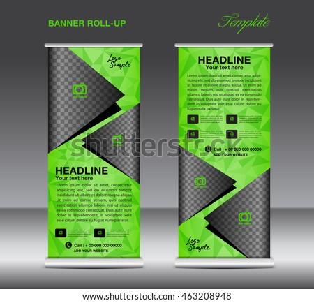green roll banner template vector roll stock vector 478701127