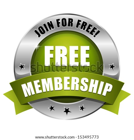 Green round free membership button