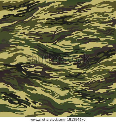 green seamless camouflage pattern  - stock vector