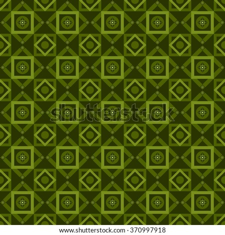 Green seamless geometric pattern - stock vector