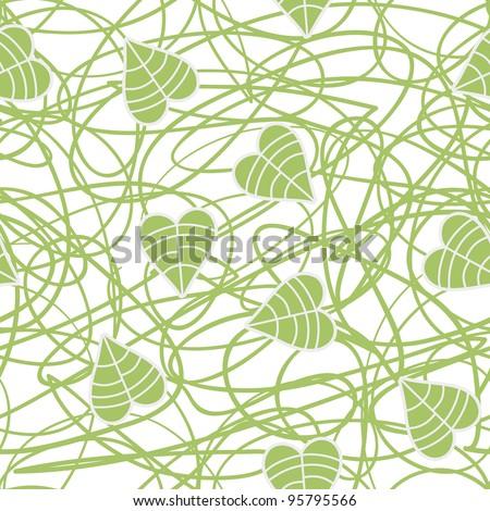 Green seamless pattern - stock vector