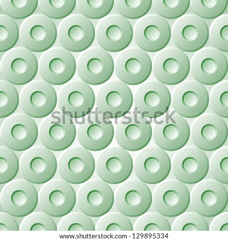 Green Seamless Pattern Metal Circle Background Vector