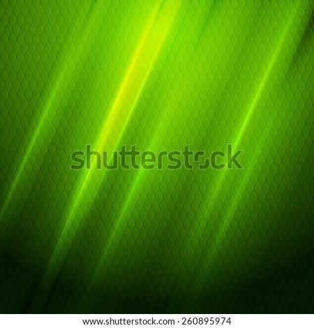 Green shiny hexagon texture background. Vector design - stock vector