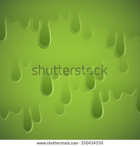 Green slime, vector - stock vector
