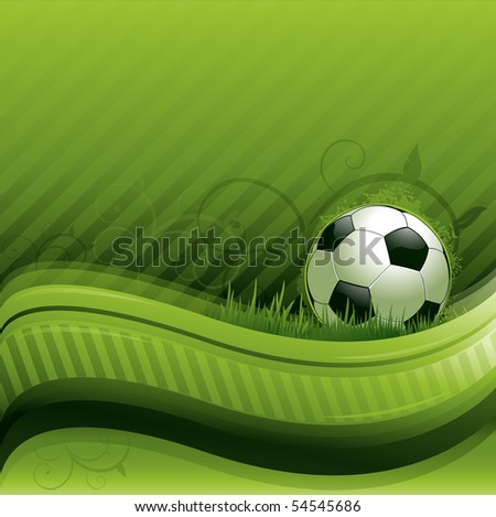 Green soccer background - stock vector