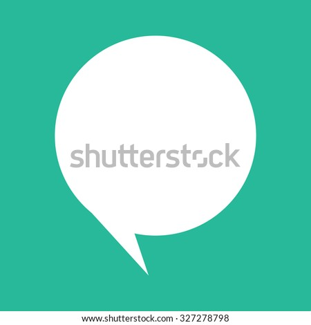 Green Speech Balloon - stock vector