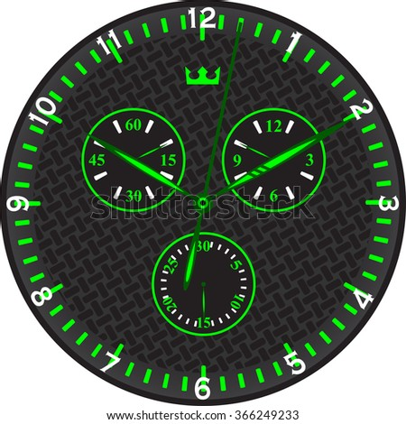 green sports watches with carbon dial