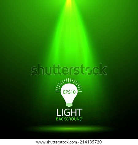 Green spotlight. Vector background  - stock vector