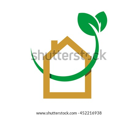 green sprout house icon 1