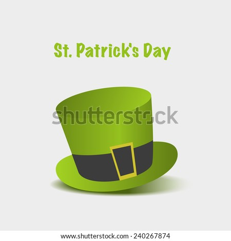 Green St. Patrick's Day - stock vector
