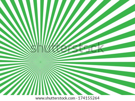 Green Sun Burst Effect. Vector - stock vector