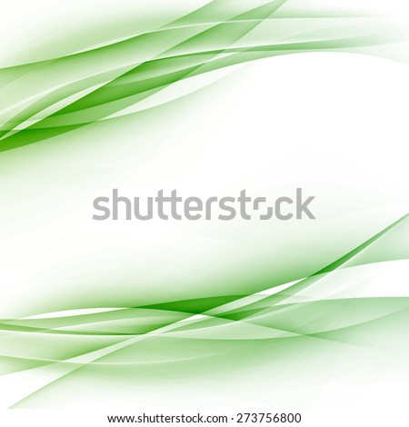 Green swoosh abstract wave folder border modern hi-tech business card or certificate template layout. Vector illustration - stock vector